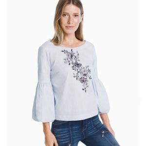 WHBM striped embroidered top | 8